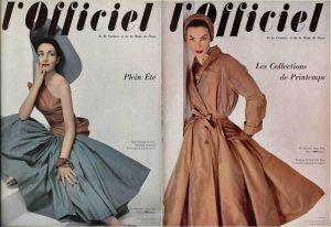 Deux couverture de l'Officiel de la couture et de la mode de Paris datées de 1952.