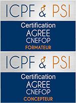 Logo ICPF & PSI Agree CNEFOP Concepteur Formateur