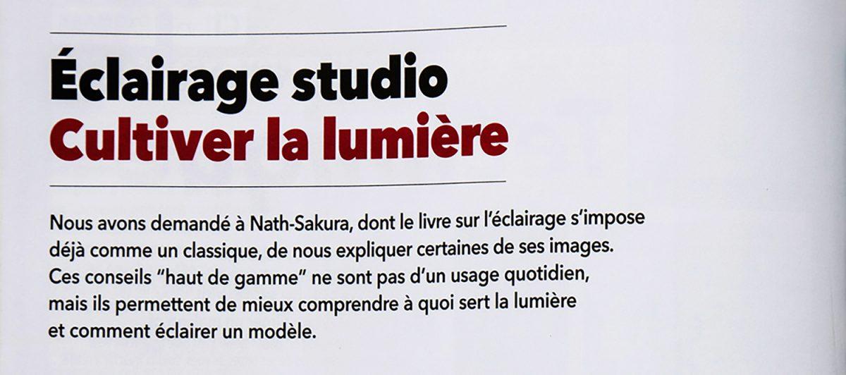 Nath-Sakura dans le magazine Chasseur d'Images